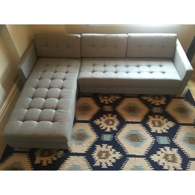 Contemporary Cb2 Ditto II Gray Sectional Sofa For Sale - Image 3 of 4