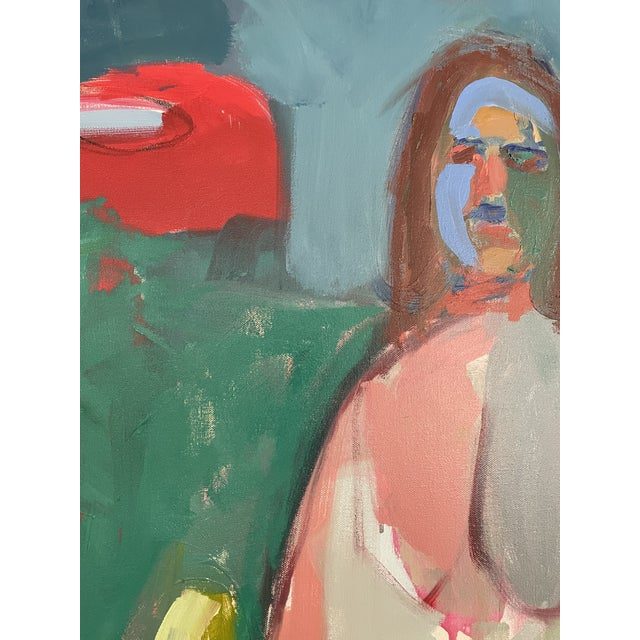 Contemporary Figurative Abstract Female Oil Painting, Framed For Sale In Atlanta - Image 6 of 8