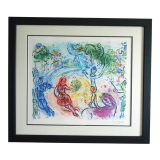 "Vintage Marc Chagall ""Le Cirque"" Modernist Lithograph Print For Sale"