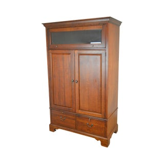 Lexington Cherry Computer Desk Office Work Station Armoire Cabinet For Sale