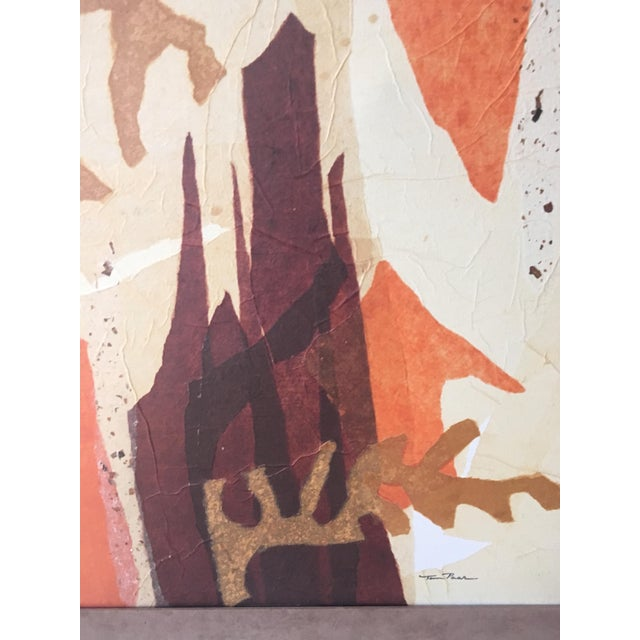 Mid 20th Century Large Mid-Century Abstract Mixed Media Collage by Tom Paar For Sale - Image 5 of 9