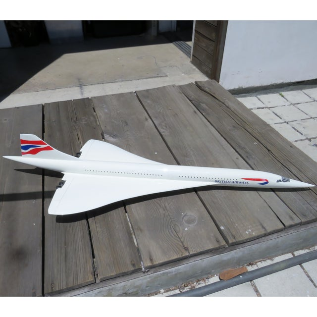 Metal Large-Scale Concorde Jet Model, on Stand For Sale - Image 7 of 12