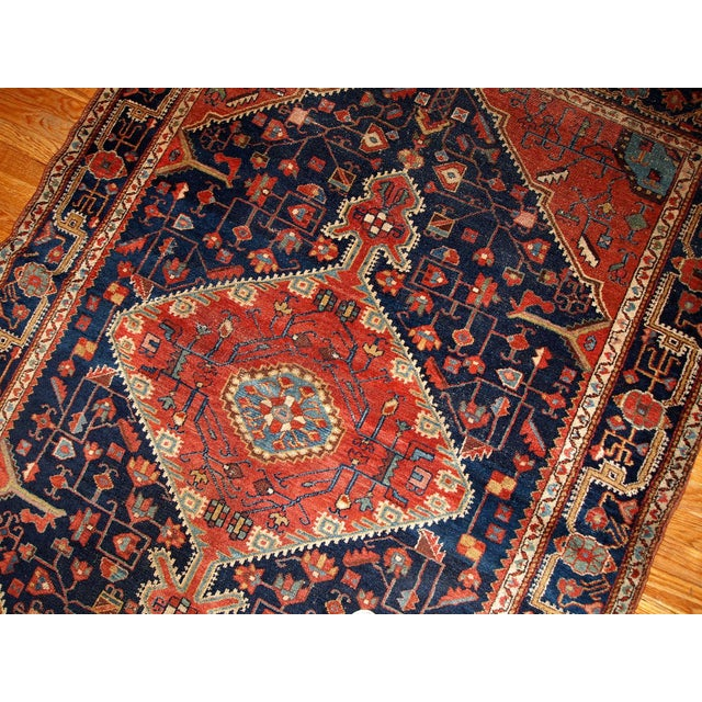 1920s 1920s Handmnade Antique Persian Malayer Rug - 4.10' X 7.3' For Sale - Image 5 of 8