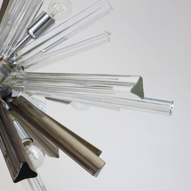 Mid 20th Century Italian Mid-Century Murano Glass Chandelier by Venini For Sale - Image 5 of 8