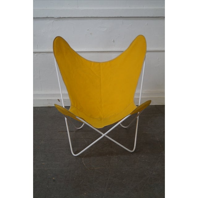 Knoll Hardoy Mid Century Modern Iron Frame Butterfly Chair Chairish