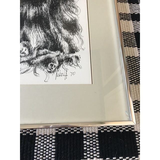 1970s Mid Century Man Sketch Circa 1970 For Sale - Image 5 of 7