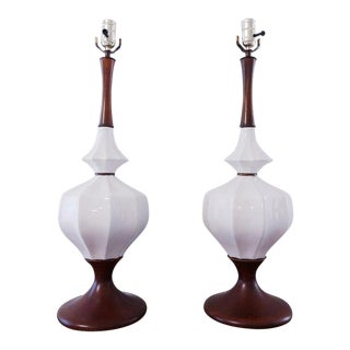 1960s Mid-Century Modern Tulip Base Lamps - a Pair For Sale