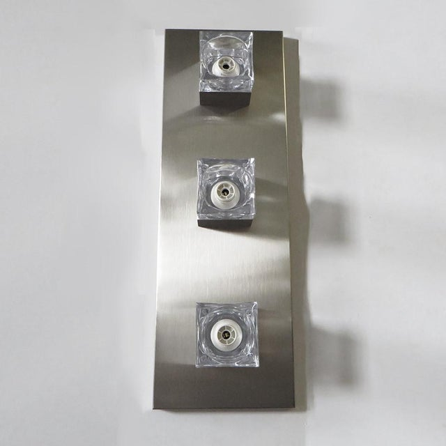Art Deco Sciolari Nickel Sconces or Flush Mounts (8 Available) For Sale - Image 3 of 8