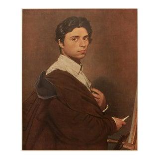 """1951 Jean-Auguste-Dominique Ingres """"Self-Portrait"""", First Edition Parisian Photogravure For Sale"""