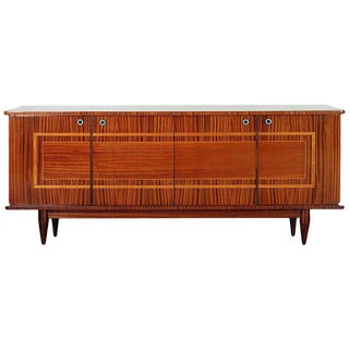 1950s Mid-Century Modern Inlaid Mahogany and Satinwood Sideboard For Sale