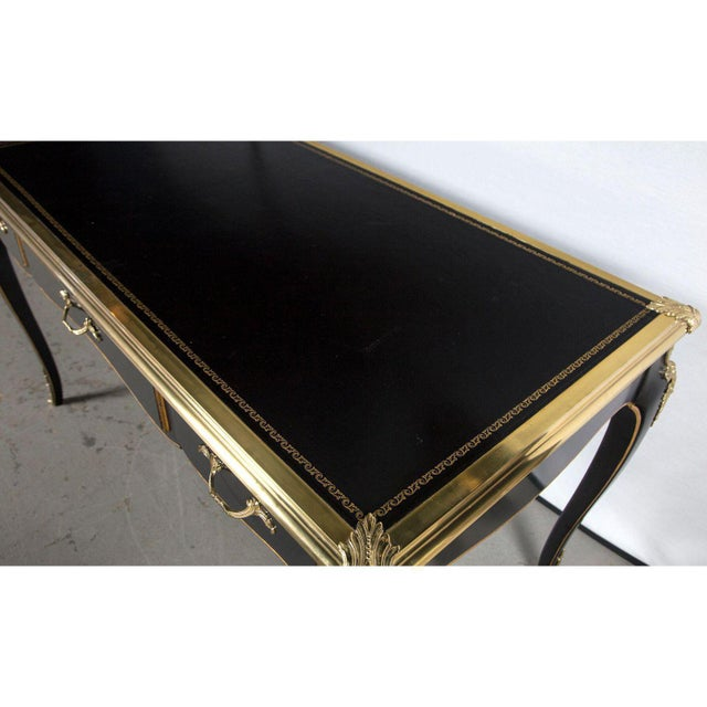 Animal Skin Baker Collector's Edition Louis XV Bureau Plat / Writing Desk For Sale - Image 7 of 11