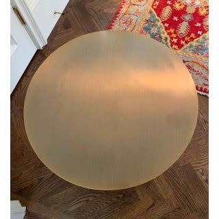 Modern Milo Baughman Bronze Drum Side Table Preview