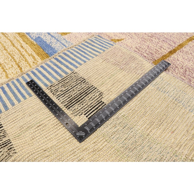 Early 21st Century Moroccan Contemporary Rug - 10'00 X 13'10 For Sale - Image 5 of 10