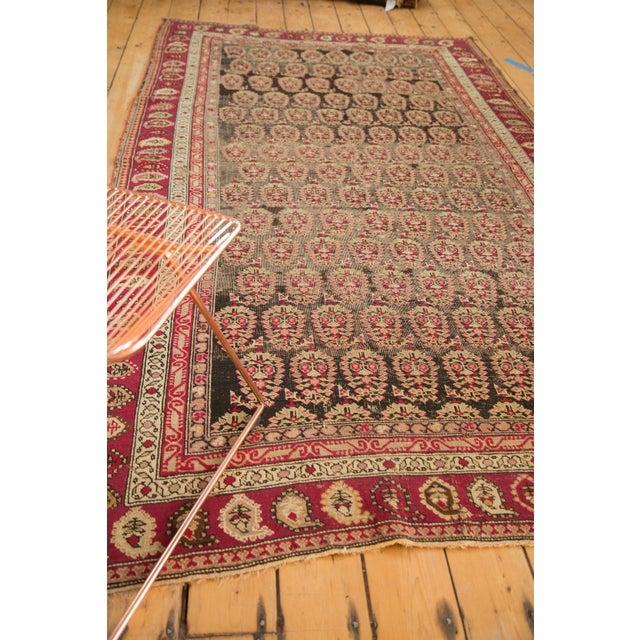 """Charcoal Antique Karabagh Carpet - 5'2"""" x 9'4"""" For Sale - Image 8 of 11"""