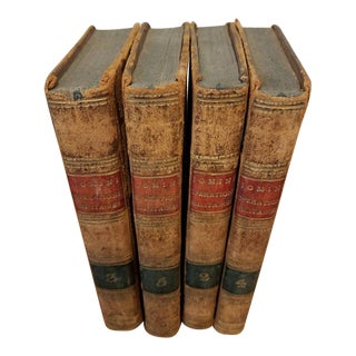 "Antique Leather 4 Volumes of Jomini "" Operations Militaires"" For Sale"