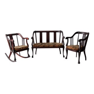 Antique American Empire Chair and Loveseat - Set of 3 For Sale