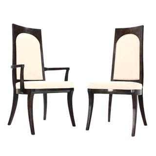 Set of Six Mid-Century Modern Mastercraft Dining Chairs New Upholstery For Sale