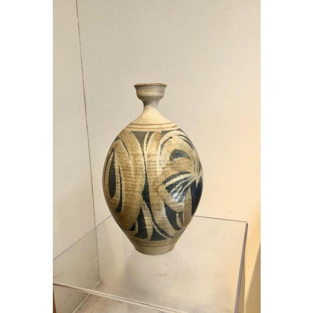 Large Vintage Stoneware Vase by Wishon Harrell For Sale - Image 9 of 9