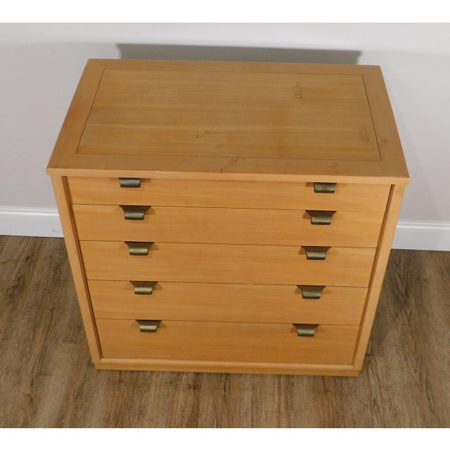 Wood Edward Wormley For Drexel Precedent Mid Century Modern Chest of Drawers For Sale - Image 7 of 13