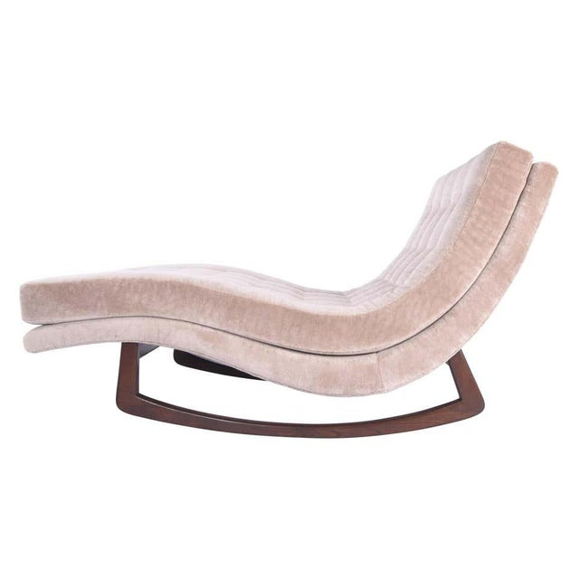 Adrian Pearsall Rocking Chaise Lounge With Walnut Base For Sale In Chicago - Image 6 of 6