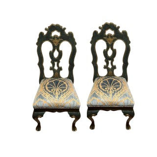 Michael Taylor Portuguese Velvet Side Chairs - a Pair For Sale