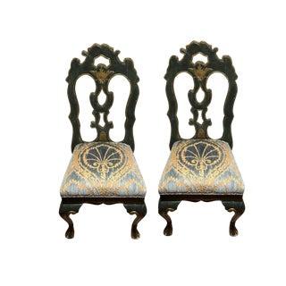 Michael Taylor Portuguese Velvet Side Chairs - a Pair For Sale