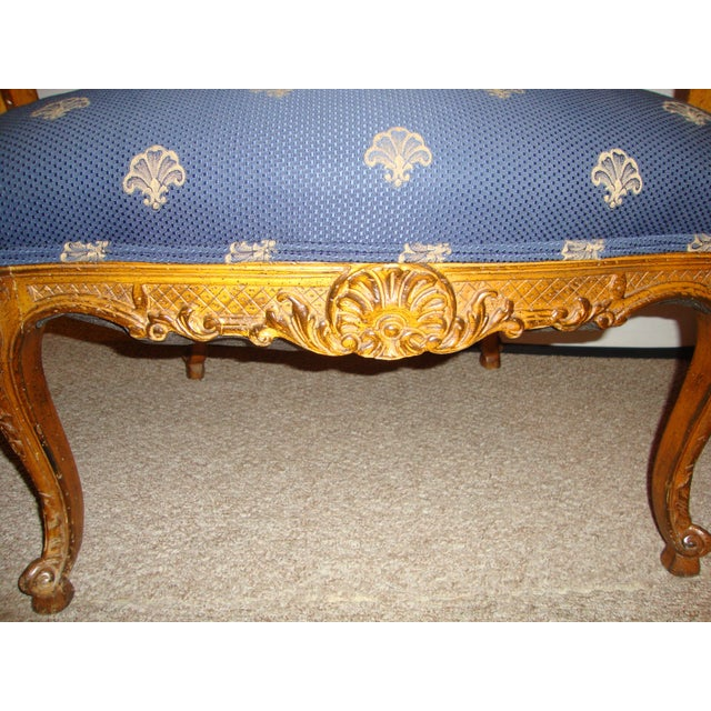 Custom Louis XV Style Arm Chairs- A Pair - Image 6 of 8