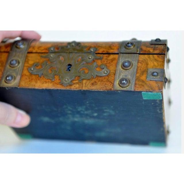 Decorative Metal-Mounted Burlwood Box - Image 6 of 7