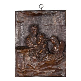 Relief Woodcarving By Hermann Steiner Meran 19th Century For Sale