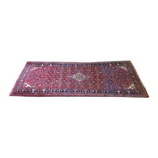 Vintage + Handmade Wool Hamadan Rug[ For Sale