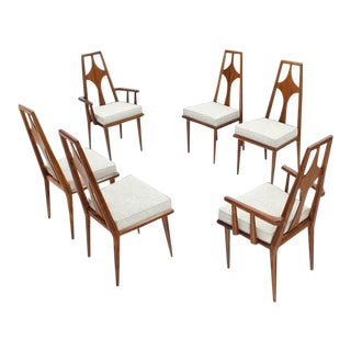 1960s Vintage Swedish Dining Chairs Set of 6 For Sale