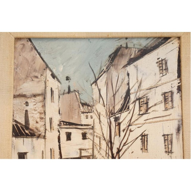 Charles Levier 1950s Cityscape Painting by Charles Levier For Sale - Image 4 of 6