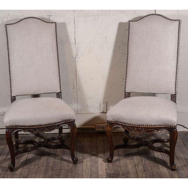 Pair of 19th Century Régence Style Side Chairs in Oak - Image 3 of 10