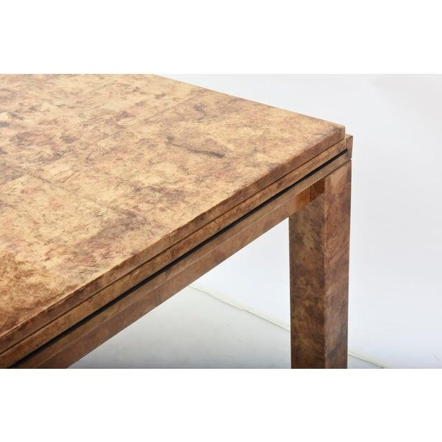 "Fine American Modern ""Goatskin"" Game Table/Extension Dining Table, Karl Springer For Sale - Image 10 of 10"
