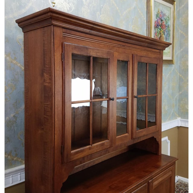 Ethan Allen Country Crossings China Cabinet For Sale - Image 5 of 11