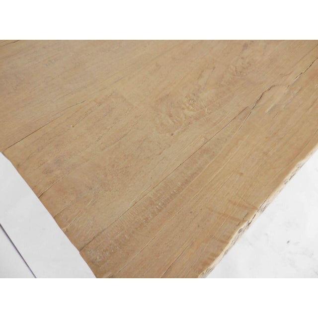 Long Elm Dining Table For Sale In Los Angeles - Image 6 of 7