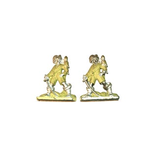 1920s Pirates With Parrots Painted Bookends - A Pair