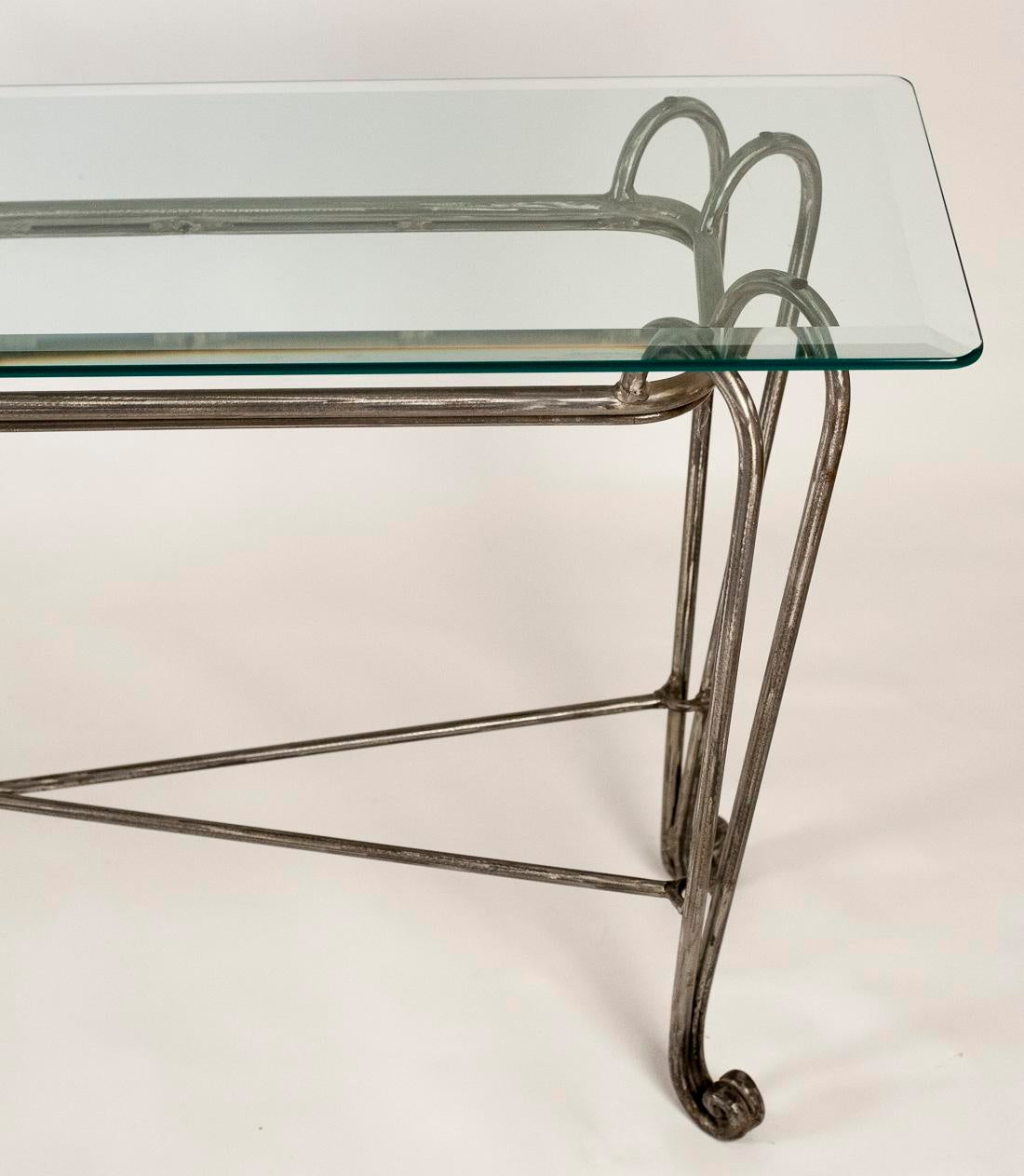 Industrial Stainless Steel Console Table For Sale   Image 4 Of 9