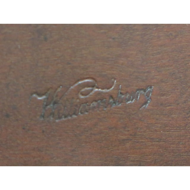 Kittinger Colonial Williamsburg Model CW-11 Mahogany Tilt Top Table For Sale - Image 10 of 11