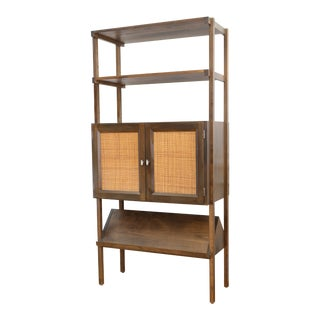 Mid Century Modern Wall Unit Record Cabinet Hutch For Sale