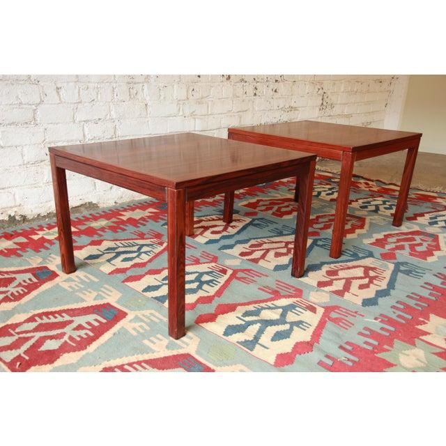 Henning Kjærnulf for Vejle Stole Danish Modern Rosewood Side Tables - a Pair For Sale - Image 5 of 7