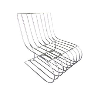 Chrome Wire Side Chair Designed by Verner Panton For Sale