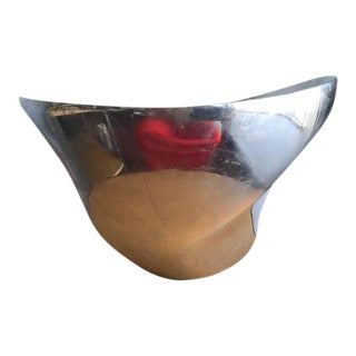 Fred Bould Nambe Silver Alloy Twisted Butterfly Bowl For Sale