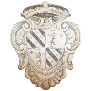 18th Century Style Century Large Tuscan Wall Crest, Stemma 2 For Sale