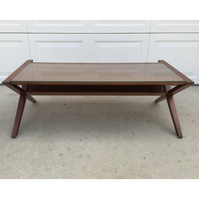 John Van Koert Walnut Coffee Table - Image 9 of 11