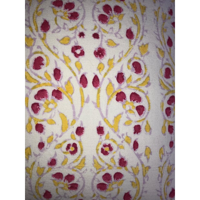2010s John Robshaw Block Print Cotton Pillow For Sale - Image 5 of 6