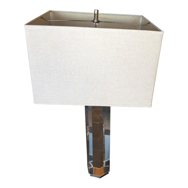 Restoration Hardware Hexagonal Column Crystal Table Lamp For Sale