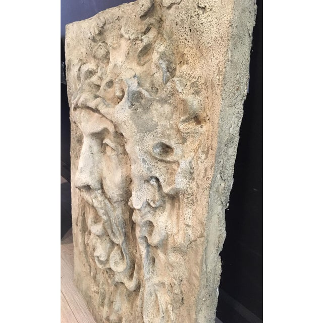 North Wind and Bacchus Cement Garden Plaques For Sale - Image 4 of 7