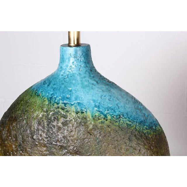 Large Ceramic Lamp by Raymor - Image 8 of 10