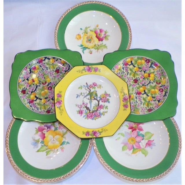(Final Markdown) 930's Crown Ducal Ware Chintz Plates - Set of 6 For Sale - Image 13 of 13